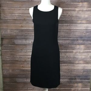 Lord & Taylor Black Knit Square Neck Tank Dress